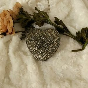 Jewelry - Pewter heart jewelry box